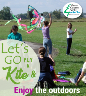 Let's go fly a kite. Enjoy the outdoors.